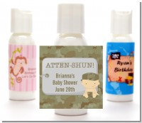 Camo Military - Personalized Baby Shower Lotion Favors
