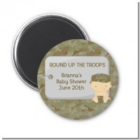 Camo Military - Personalized Baby Shower Magnet Favors