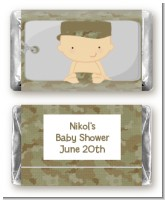 Camo Military - Personalized Baby Shower Mini Candy Bar Wrappers
