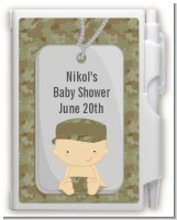 Camo Military - Baby Shower Personalized Notebook Favor