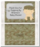 Camo Military - Personalized Popcorn Wrapper Baby Shower Favors