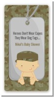 Camo Military - Custom Rectangle Baby Shower Sticker/Labels