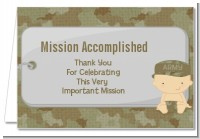 Camo Military - Baby Shower Thank You Cards