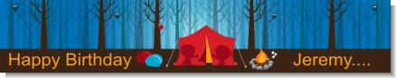 Camping - Personalized Birthday Party Banners