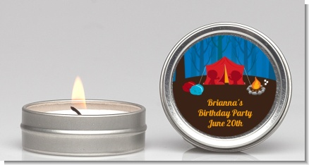 Camping - Birthday Party Candle Favors