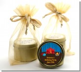 Camping - Birthday Party Gold Tin Candle Favors