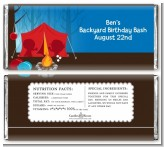 Camping - Personalized Birthday Party Candy Bar Wrappers