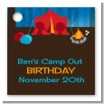 Camping - Personalized Birthday Party Card Stock Favor Tags thumbnail