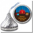 Camping - Hershey Kiss Birthday Party Sticker Labels thumbnail