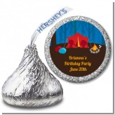 Camping - Hershey Kiss Birthday Party Sticker Labels