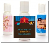 Camping - Personalized Birthday Party Lotion Favors