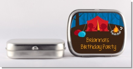 Camping - Personalized Birthday Party Mint Tins