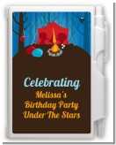 Camping - Birthday Party Personalized Notebook Favor