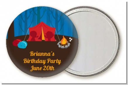 Camping - Personalized Birthday Party Pocket Mirror Favors