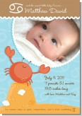 Crab | Cancer Horoscope - Birth Announcement Photo Card