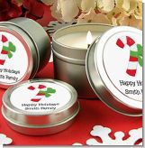 Candy Cane - Christmas Candle Favors