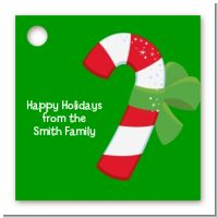 Candy Cane - Personalized Christmas Card Stock Favor Tags