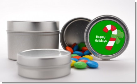 Candy Cane - Custom Christmas Favor Tins