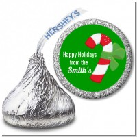 Candy Cane - Hershey Kiss Christmas Sticker Labels