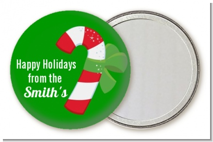 Candy Cane - Personalized Christmas Pocket Mirror Favors