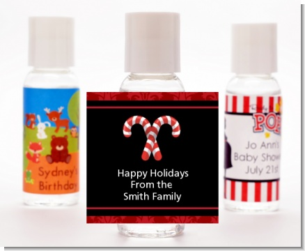 Candy Canes - Personalized Christmas Hand Sanitizers Favors