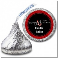 Candy Canes - Hershey Kiss Christmas Sticker Labels