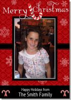 Candy Canes - Personalized Photo Christmas Cards
