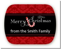 Candy Canes - Personalized Christmas Rounded Corner Stickers