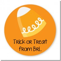 Candy Corn - Round Personalized Halloween Sticker Labels