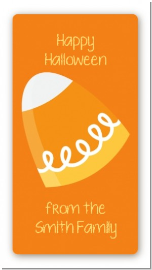 Candy Corn - Custom Rectangle Halloween Sticker/Labels