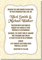 Pale Yellow & Brown - Bridal Shower Invitations