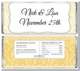 Candy Floss - Personalized Anniversary Candy Bar Wrappers