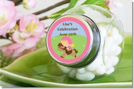 Horseback Riding - Personalized Birthday Party Candy Jar