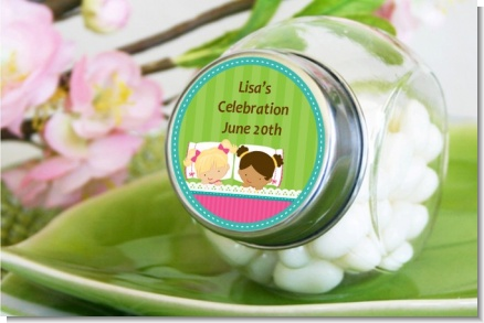Slumber Party with Friends - Personalized Birthday Party Candy Jar