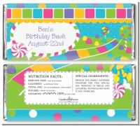Candy Land - Personalized Birthday Party Candy Bar Wrappers