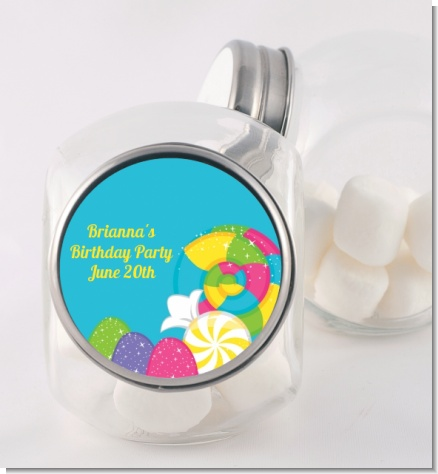 Candy Land - Personalized Birthday Party Candy Jar