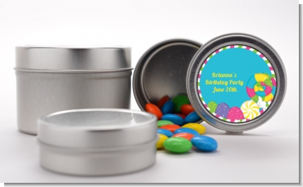 Candy Land - Custom Birthday Party Favor Tins
