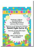 Candy Land - Birthday Party Petite Invitations