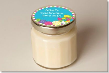 Candy Land - Birthday Party Personalized Candle Jar