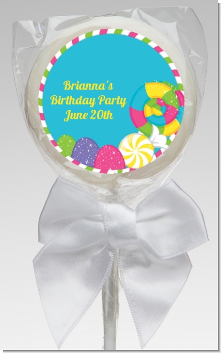 Candy Land - Personalized Birthday Party Lollipop Favors