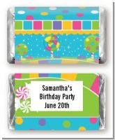 Candy Land - Personalized Birthday Party Mini Candy Bar Wrappers