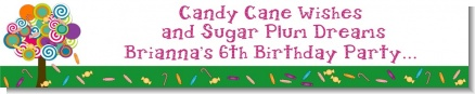 Candy Tree - Personalized Birthday Party Banners