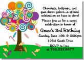 Candy Tree - Birthday Party Invitations
