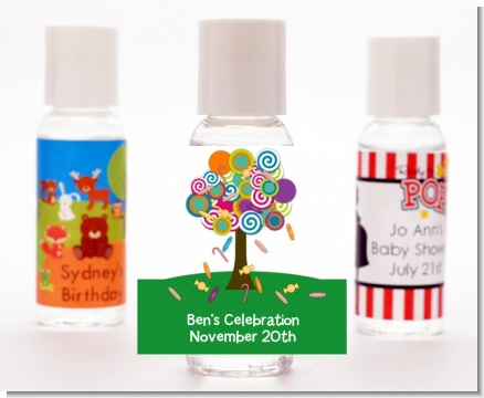 Candy Tree - Personalized Birthday Party Hand Sanitizers Favors