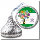 Candy Tree - Hershey Kiss Birthday Party Sticker Labels