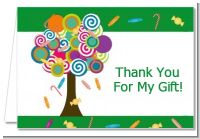 Candy Tree - Birthday Party Thank You Cards