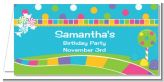 Candy Land - Personalized Birthday Party Place Cards
