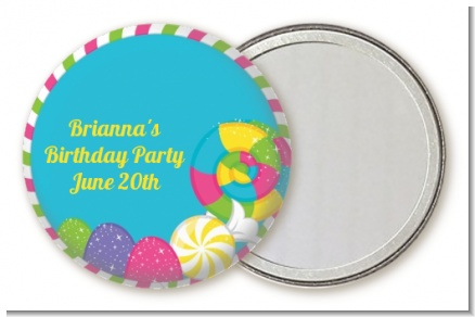 Candy Land - Personalized Birthday Party Pocket Mirror Favors