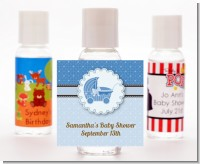 Carriage Blue - Personalized Baby Shower Hand Sanitizers Favors
