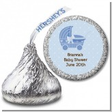 Carriage - Hershey Kiss Baby Shower Sticker Labels